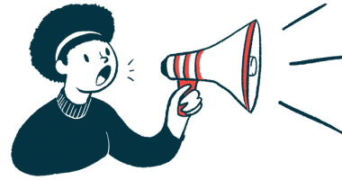 Masitinib | ALS News Today | European clinical trial | illustration of woman with megaphone