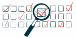 quality of life survey | ALS News Today | illustration of checkboxes with a magnifying glass